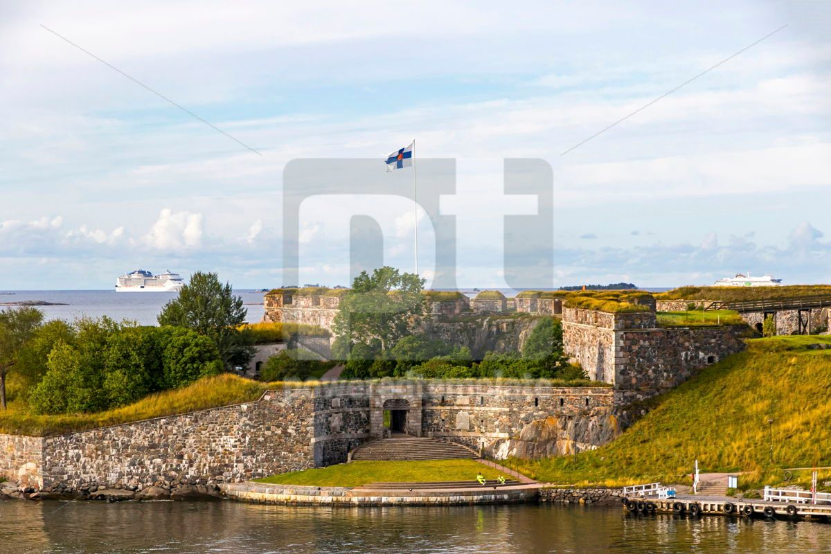 Bastions of finnish fortress Suomenlinna in Helsinki Finland, 12475, Architecture  — PoweredTemplate.com