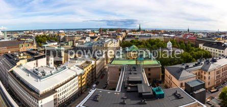 Architecture : Panoramic aerial view of Helsinki city Finland #12476