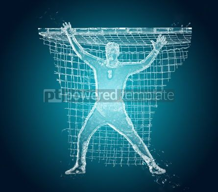 People: Abstract handball player in action #12483