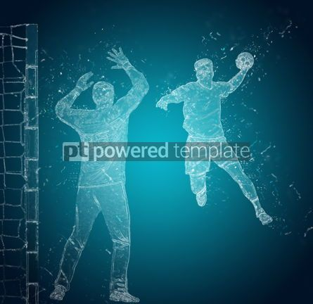 People: Abstract handball players in action #12485