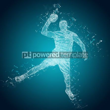 People: Abstract handball player in action #12489