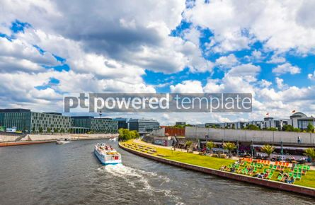 Transportation: Sightseeing boats on the river Spree in Berlin Germany #12490