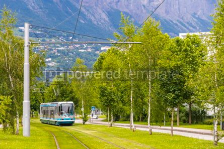 Transportation: Modern tram on the streets of Grenoble city France #12491