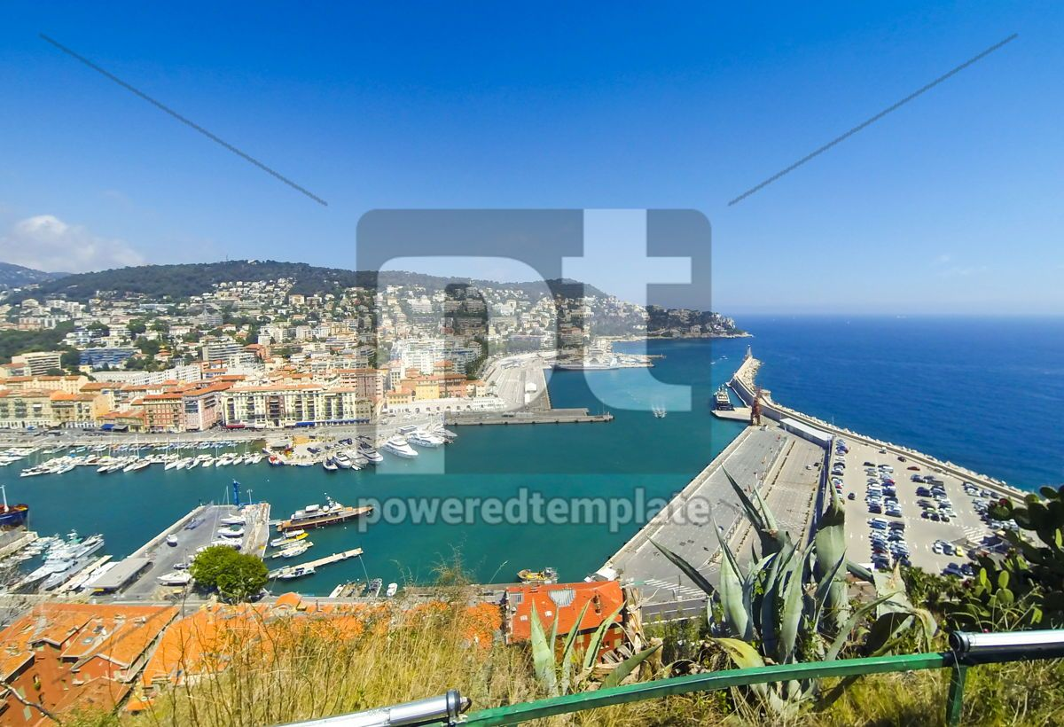 Aerial View on Port of Nice French Riviera France, 12495, Transportation — PoweredTemplate.com