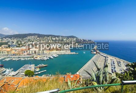 Transportation: Aerial View on Port of Nice French Riviera France #12495