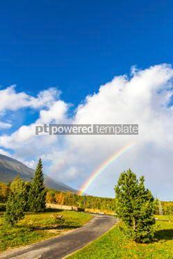 Nature: Rainbow over High Tatras Mountains near Vysoke Tatry Slovakia #12519