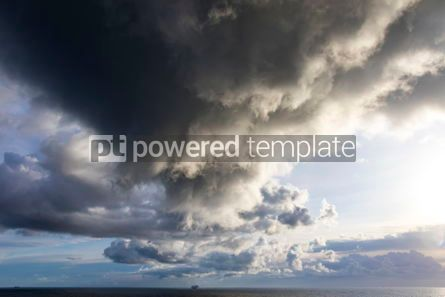 Nature: Dramatic stormy clouds over the Baltic sea #12520