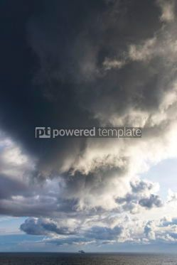 Nature: Dramatic stormy clouds over the Baltic sea #12521