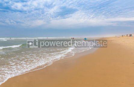 Nature: Ocean beach on the Atlantic coast of France near Lacanau-Ocean #12522