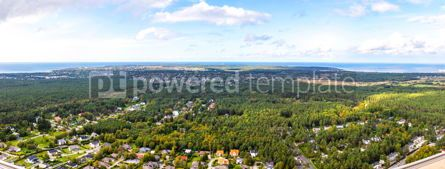 Nature: Panoramic aerial view of the outskirts of Tallinn city Estonia #12523