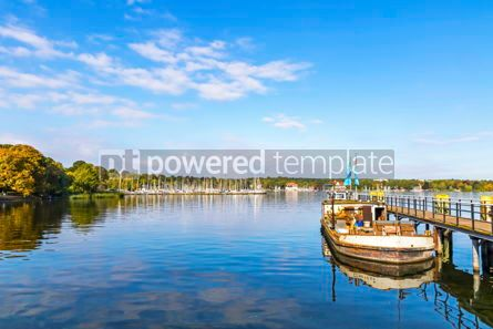 Nature: Autumn view of Wannsee lake in Berlin Germany #12525