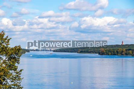 Nature: Autumn view of Wannsee lake in Berlin Germany #12526