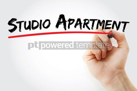 Business: Studio apartment text with marker #12535