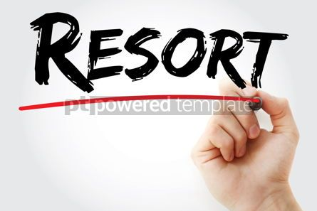Business: Resort text with marker #12536