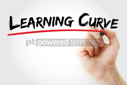 Business: Learning curve text with marker #12546
