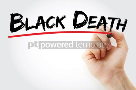 Business: Black death text with marker #12552