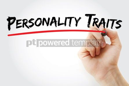 Business: Personality traits text with marker #12554