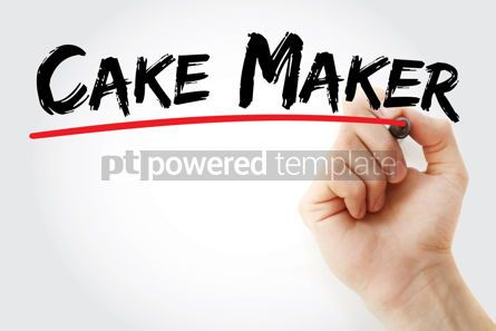 Business: Cake maker text with marker #12566