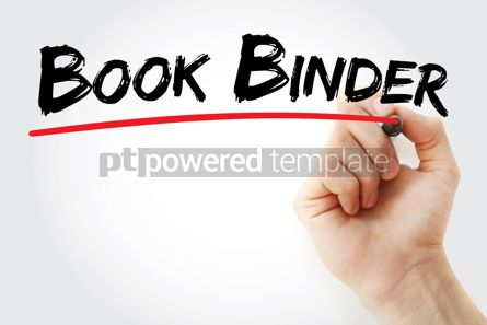 Business: Book binder text with marker #12568