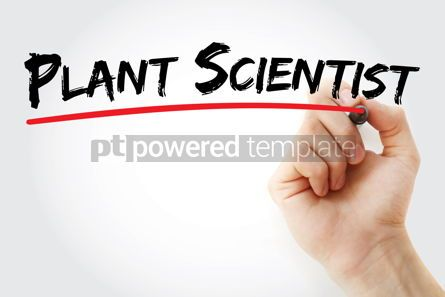 Business: Plant scientist text with marker #12572