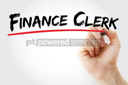 Business: Finance clerk text with marker #12573