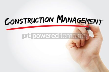 Business: Construction management text with marker #12579