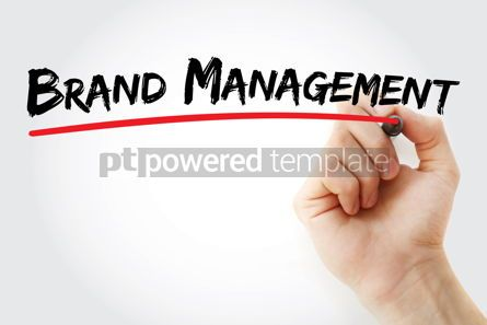 Business: Brand management text with marker #12588