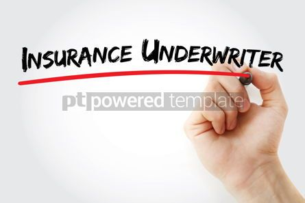 Business: Insurance underwriter text with marker #12592