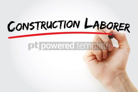Business: Construction laborer text with marker #12597
