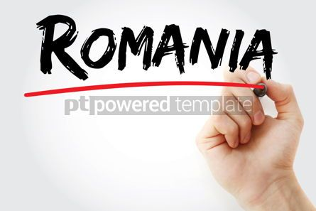 Business: Romania text with marker #12600