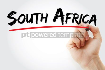 Business: South Africa text with marker #12609