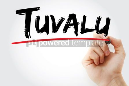 Business: Tuvalu text with marker #12611