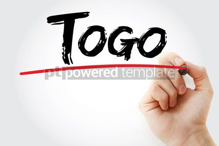 Business: Togo text with marker #12613