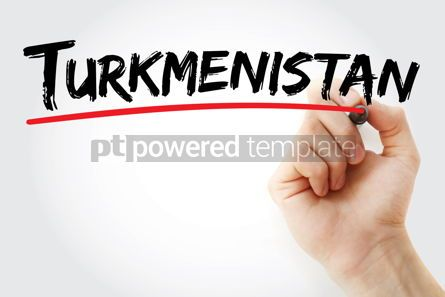 Business: Turkmenistan text with marker #12615