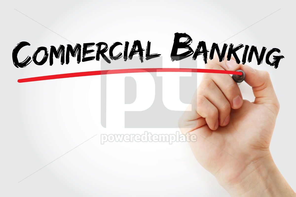 Commercial Banking text with marker, 12617, Business — PoweredTemplate.com
