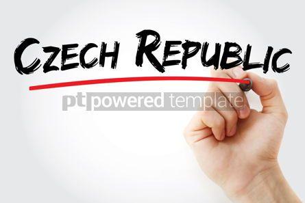 Business: Czech republic text with marker #12643