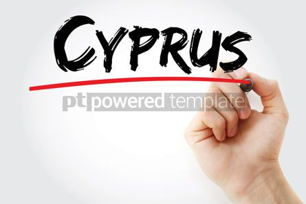 Business: Cyprus text with marker #12652