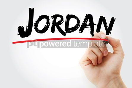 Business: Jordan text with marker #12659