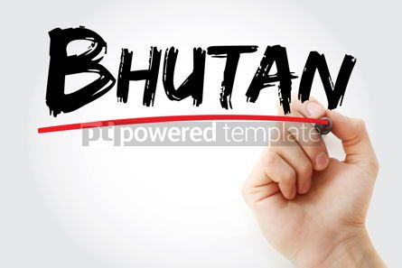 Business: Bhutan text with marker #12661