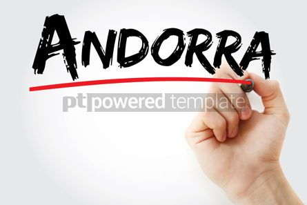 Business: Andorra text with marker #12681