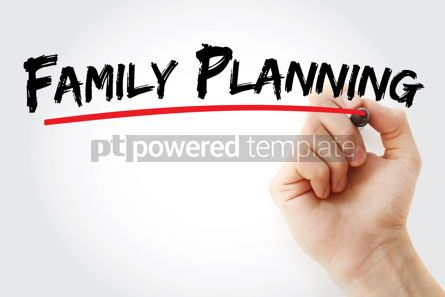 Business: Family planning text with marker #12692