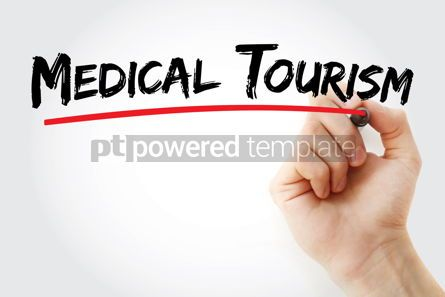 Business: Medical Tourism text with marker #12699