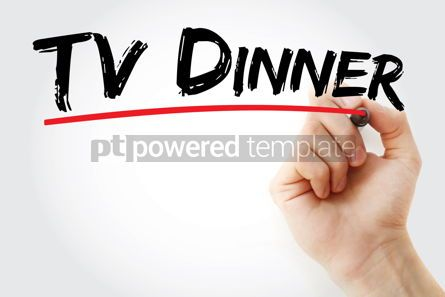Business: TV Dinner text with marker #12703
