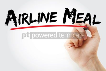 Business: Airline Meal text with marker #12707