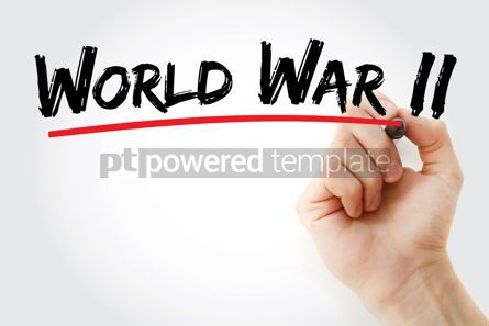 Business: World War II text with marker #12710