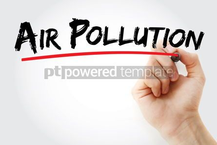 Business: Air pollution text with marker #12712