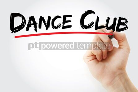 Business: Dance Club text with marker #12731