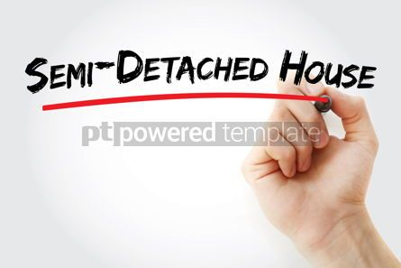 Business: Semi-detached house text with marker #12735