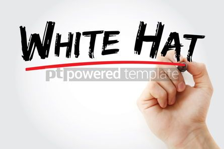 Business: White Hat text with marker #12739