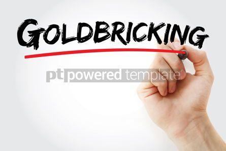 Business: Goldbricking text with marker #12765